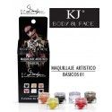 MAQUILLAJE BODY AND FACE BASICOS C/6PZ