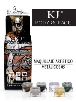 MAQUILLAJE BODY AND FACE METÁLICOS C/6PZ