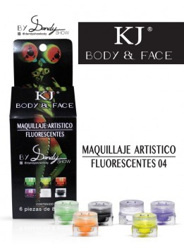 MAQUILLAJE BODY AND FACE FLUORECENTE C/6PZ