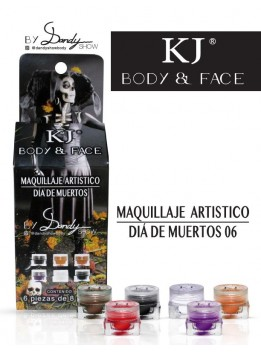 MAQUILLAJE BODY AND FACE DIA DE MUERTOS C/6PZ