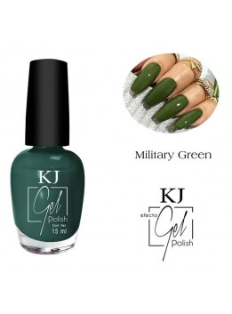 ESMALTE KJ POLISH GEL MILITARY GREEN