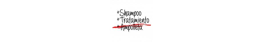 SHAMPOO, TRATAMIENTO Y AMPOLLETA